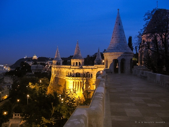 Buda or Pest: Buda at night