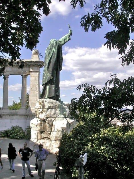 Gellért Monument in Budapest Old Town
