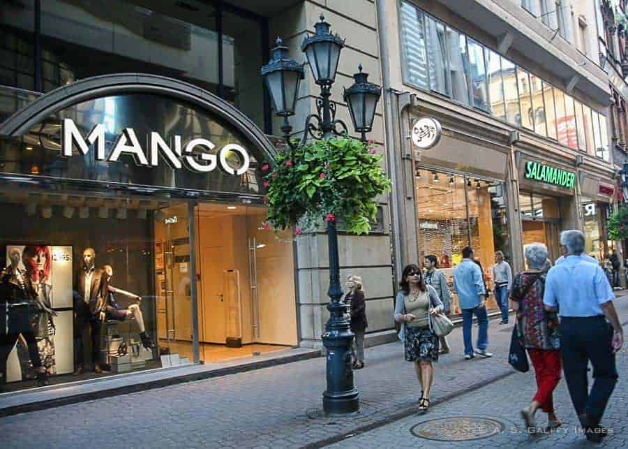 Shops on Vaci Utca in Budapest