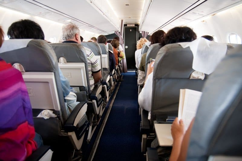 people on the airplane