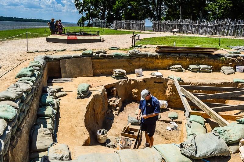Archeological Site of Jamestown settlement