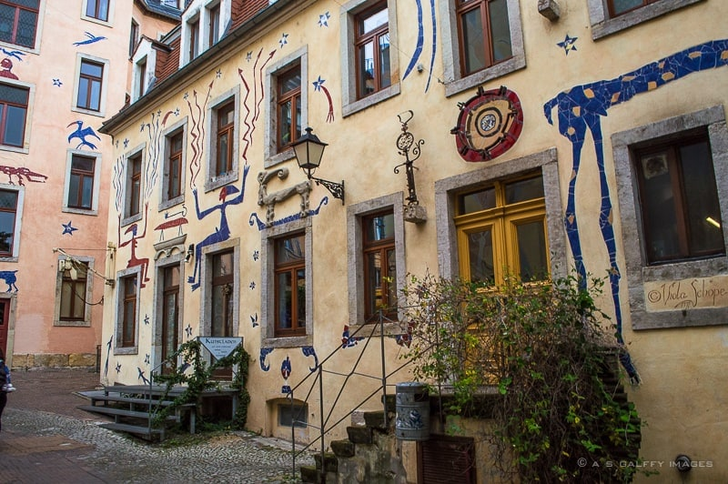 Courtyard of the Mythical Creature in Kunsthofpassage
