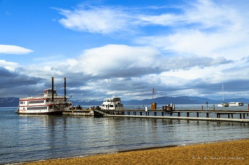 M.S. Dixie II boat on Lake Tahoe
