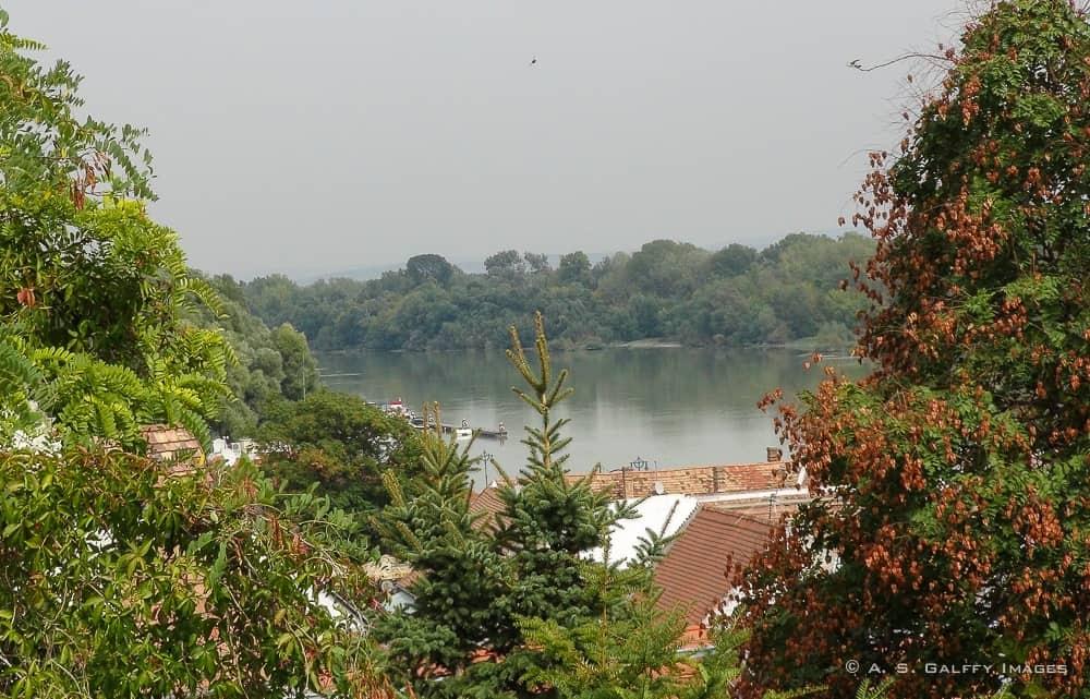 view of the Danube River in Szentendre
