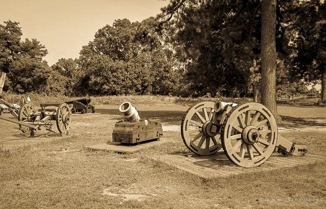 Artifacts in the Yorktown battlefield
