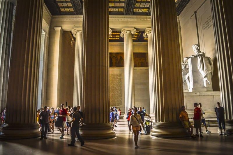 weekend in Washington DC Lincoln Memorial