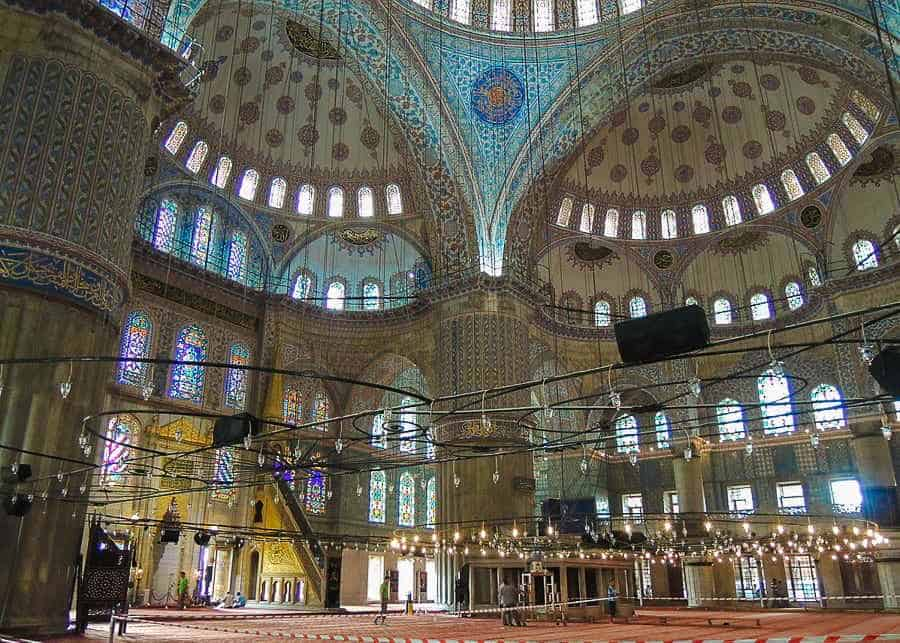 Inside the Blue Mosque - best things to do in Istanbul