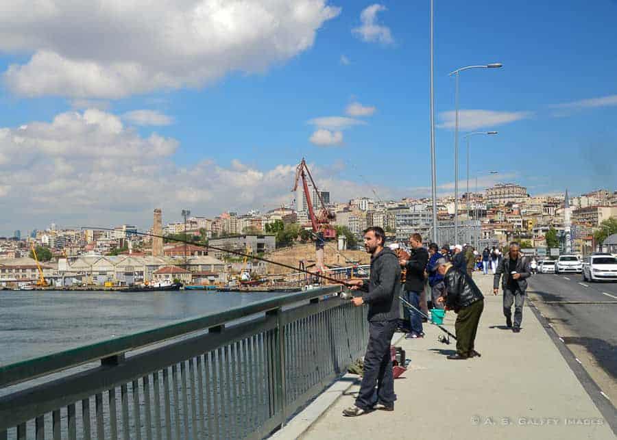 How to spend 3 days in Istanbul - walking Galata Bridge