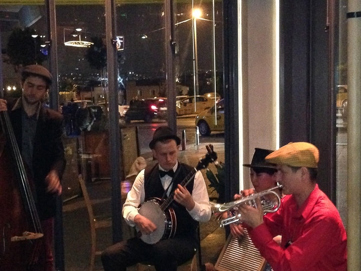 Jazz Band playing in an Istanbul restaurant