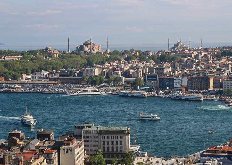 View of Istanbul from across the Bosphorus