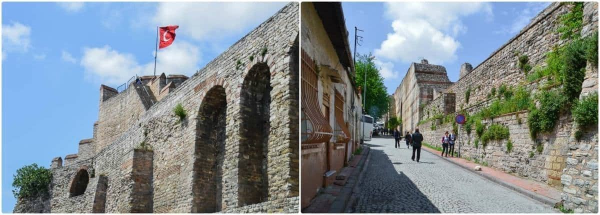 The Old Wall of Constantinople in Istanbul