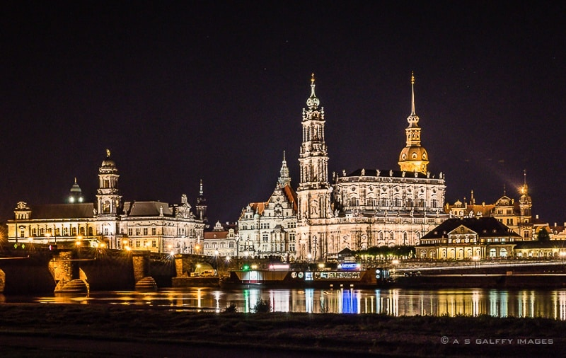 The Weekly Postcard: Dresden's Skyline at Night