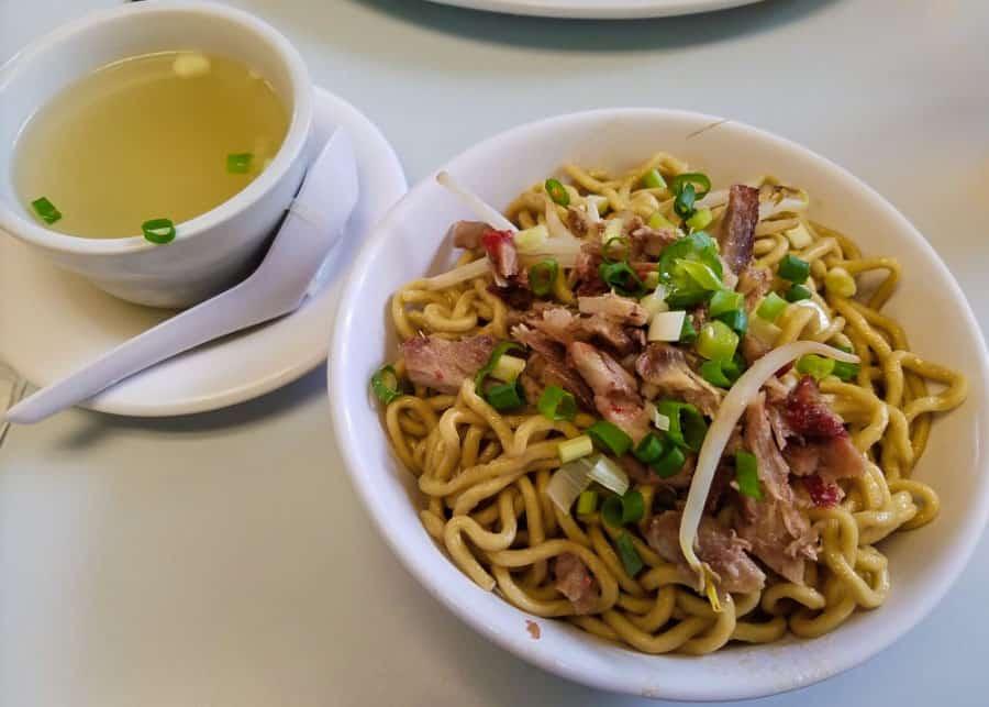 Noodle dish at Sam Sato's