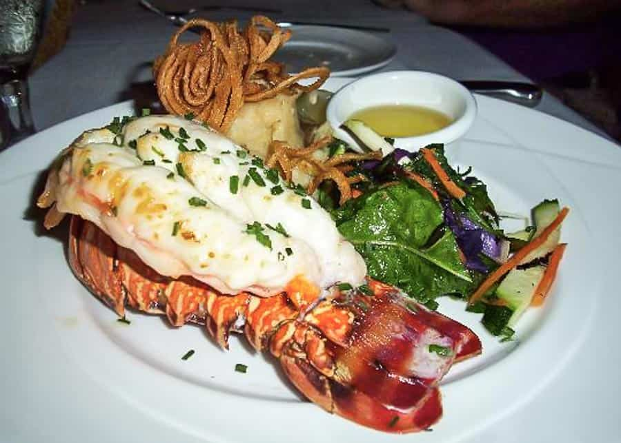 Lobster tail at Seahouse Restaurant