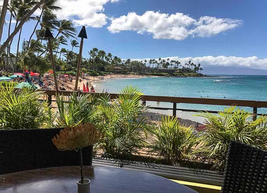 Seahouse restaurant in Napili Bay, one of the best places to eat on Maui