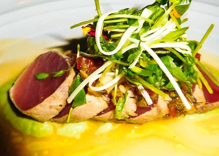 Seared ahi tuna at Spago Restaurant