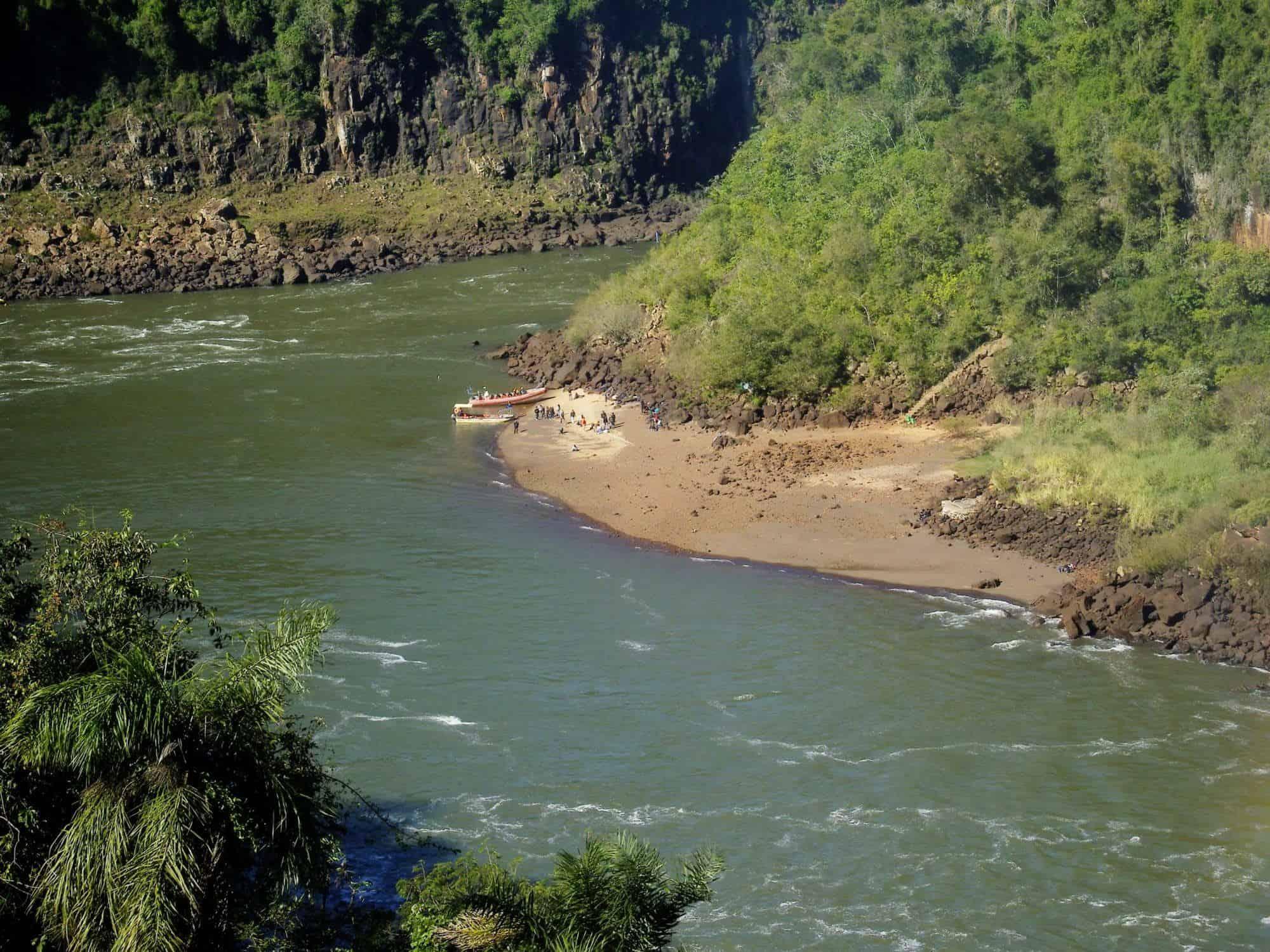 San Martin Island at Iguazu Falls