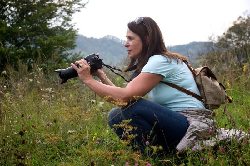 Taking photos in Biertan