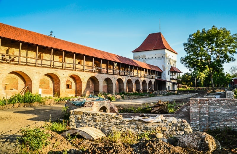 the old Fortress walls in Targu Mures