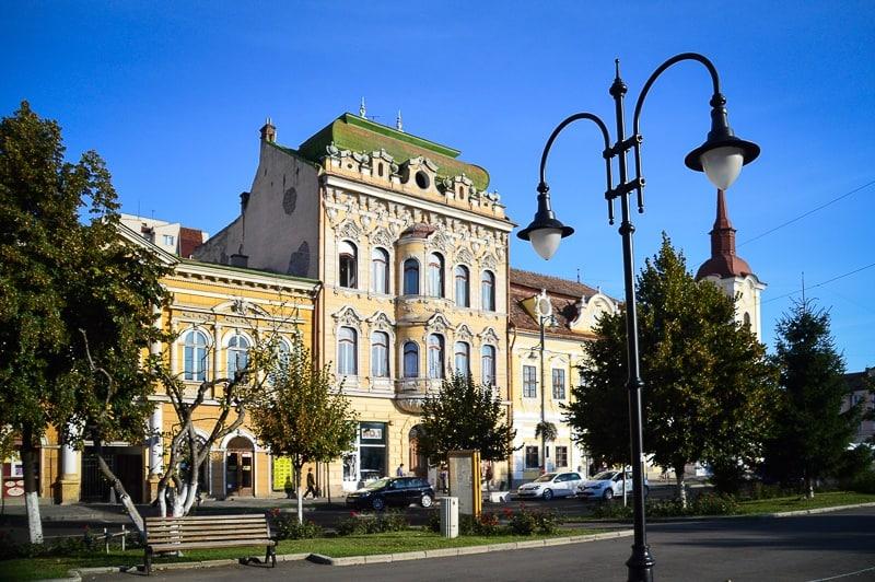 Buildings in Târgu Mures Romania