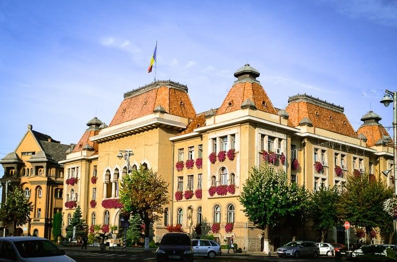 Buildings in Târgu Mures city center
