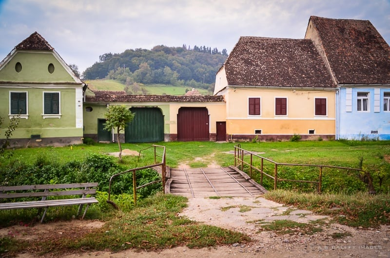 Characteristic wooden gates for the villages in Transylvania