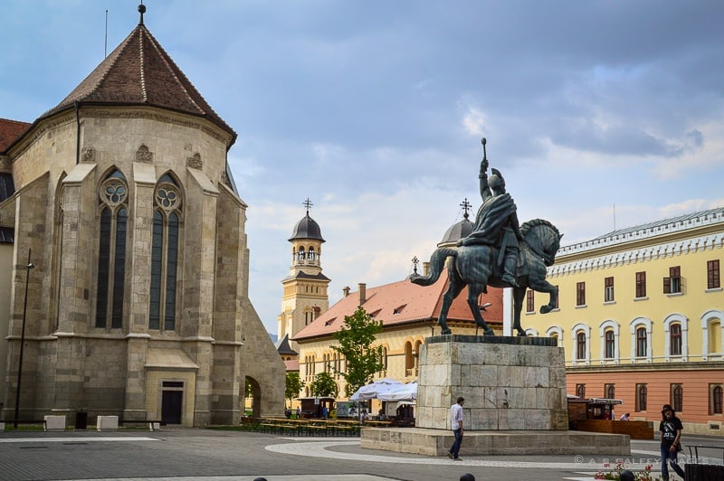 The statue of Michael the Brave, Prince of Wallachia