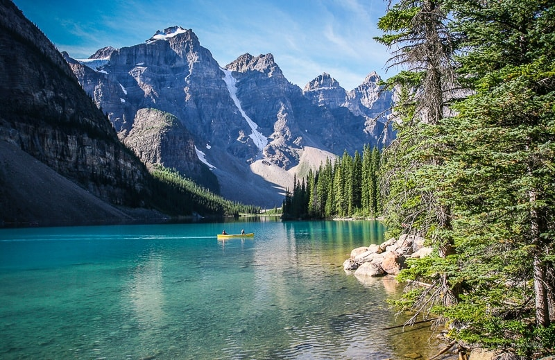 Lake Moraine in Banff, a very unique place