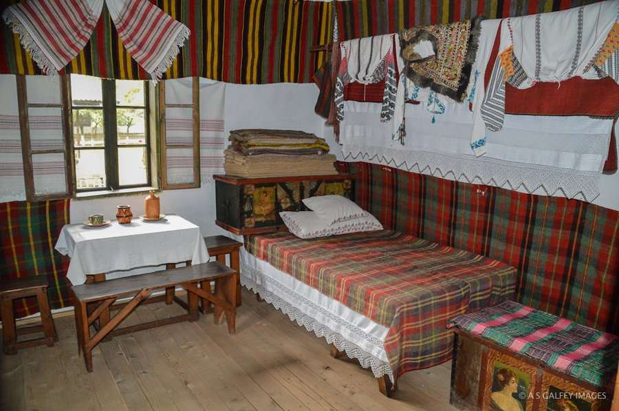 Interior of a rural house at Bucharest Village Museum