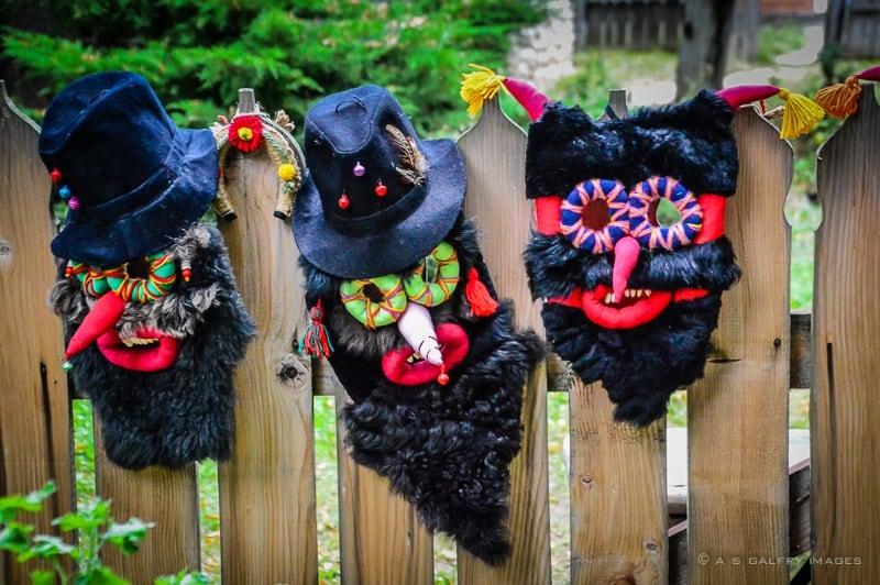 Folk masks from Maramures, Romania