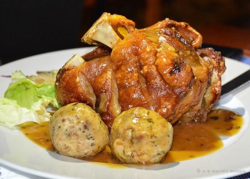 Roasted pork knuckles