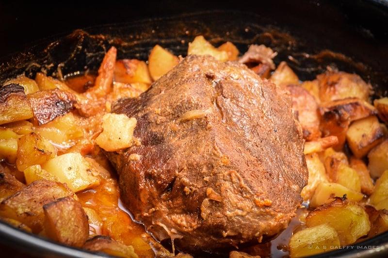 Beef stew, a very popular Romanian food