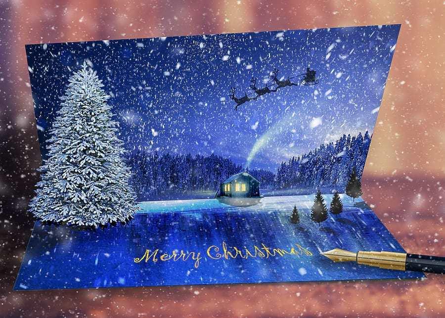 Writing Christmas cards, an old Family Christmas tradition