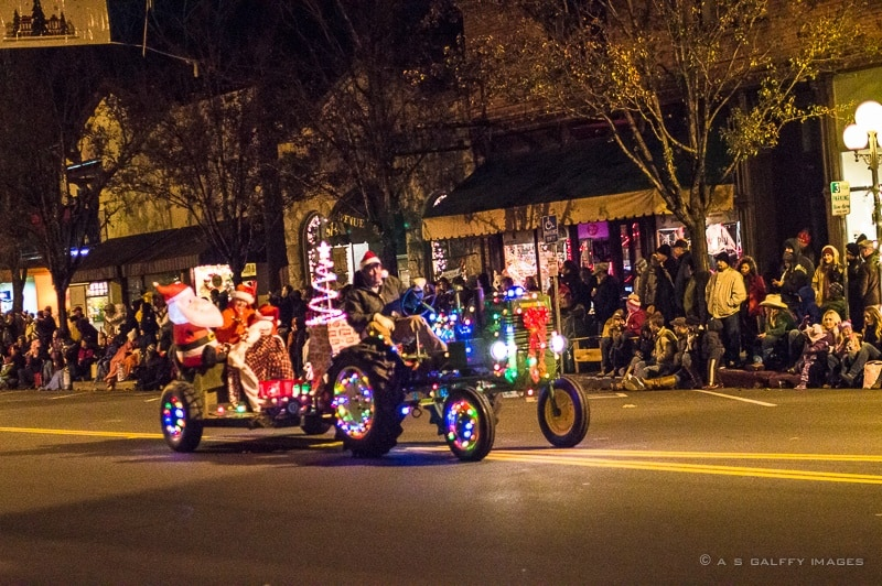 Family traditions: attending a Christmas parade