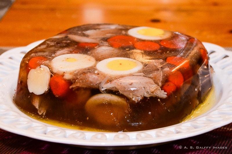 Piftie, Romanian food