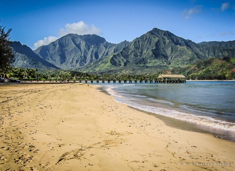 Hanalei Bay Beach in Kauai