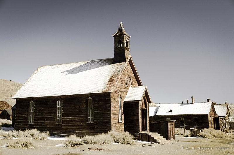 Abandoned church in Bodie Ghost town