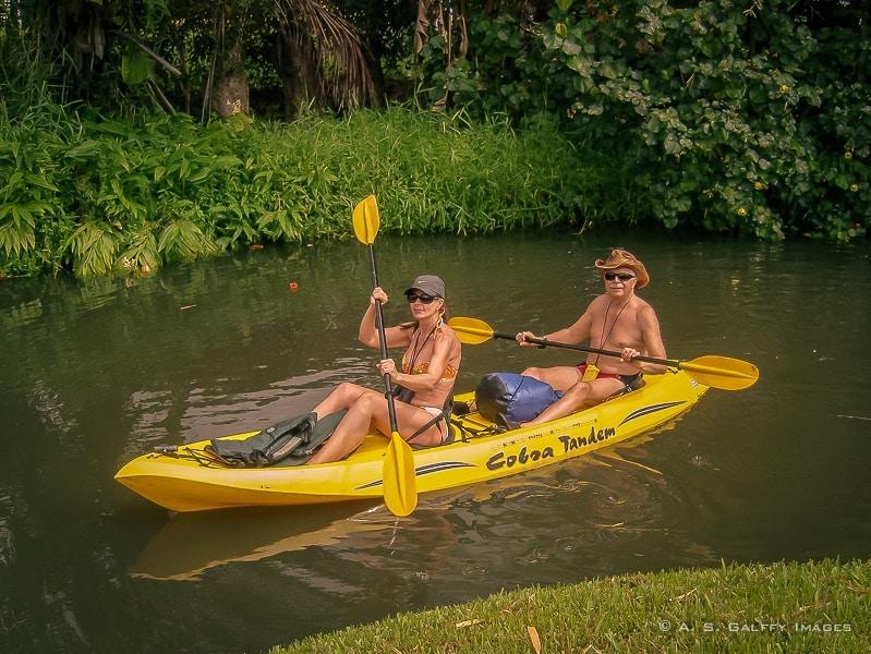 Kayaking in Kauai