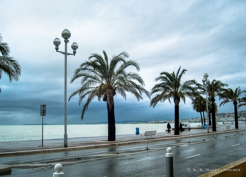 Avenue des Anglais - Nice in Winter