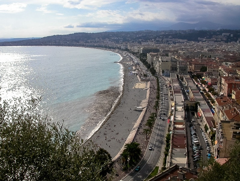 view of Nice from the Castle Hill