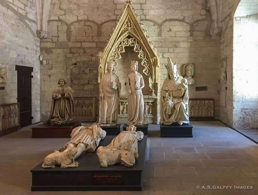 Stone effigies in the North Sacristy