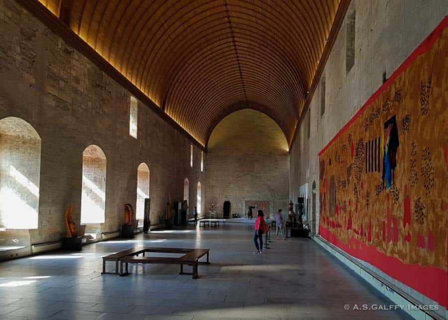 Gigantic hall at the Popes Palace in Avignon