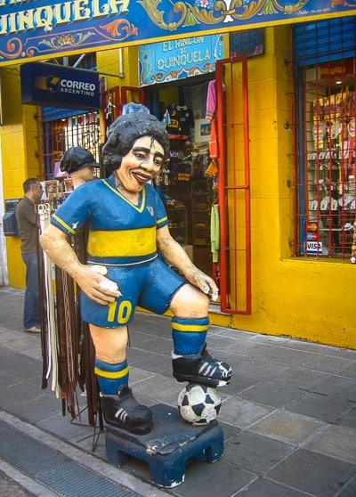 Statue of Maradona in La Boca