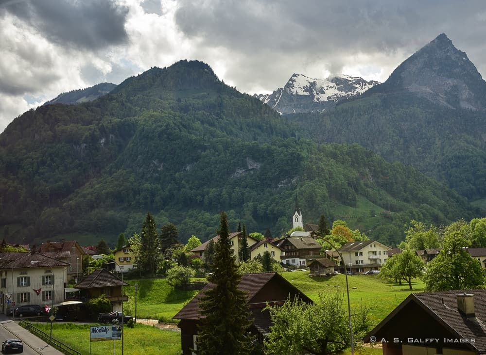 scenery from Lucerne to Interlaken aboard the Golden Pass Line