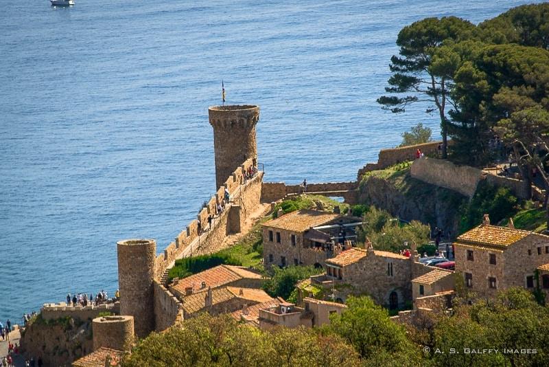 The Old Fortress in Tossa de Mar, Costa Brava