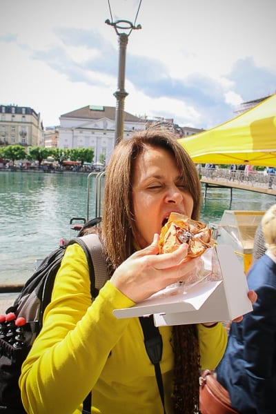 tasting the goodies of the farmers' market in Lucerne
