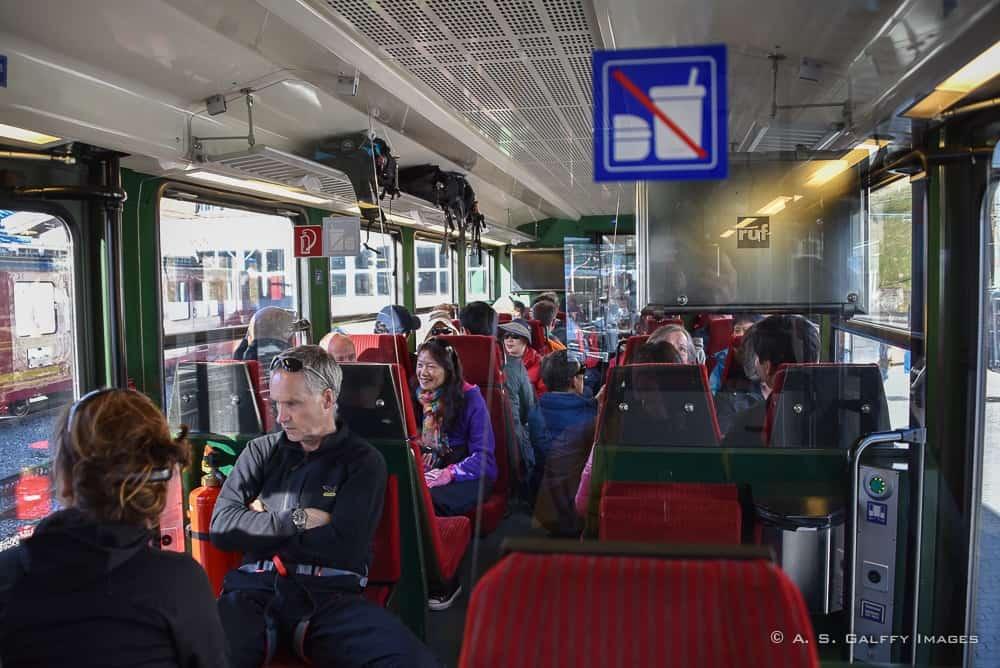 Riding the cogwheel train to Jungfaujoch