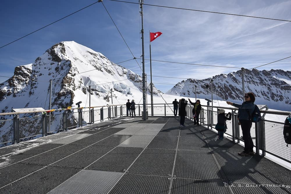 The Sphinx Observatory deck on Jungfraujoch