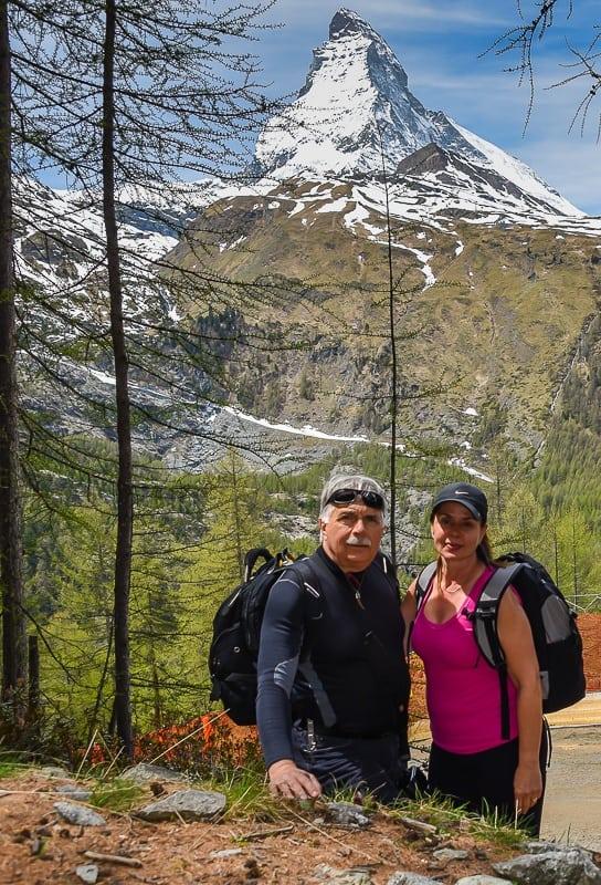Hiking down to Zermatt from Gornergrat