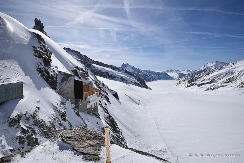 Aletsch Glacier in Jungfraujoch